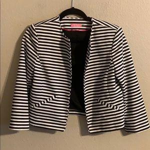 Isaac Mizrahi striped cropped blazer size 8